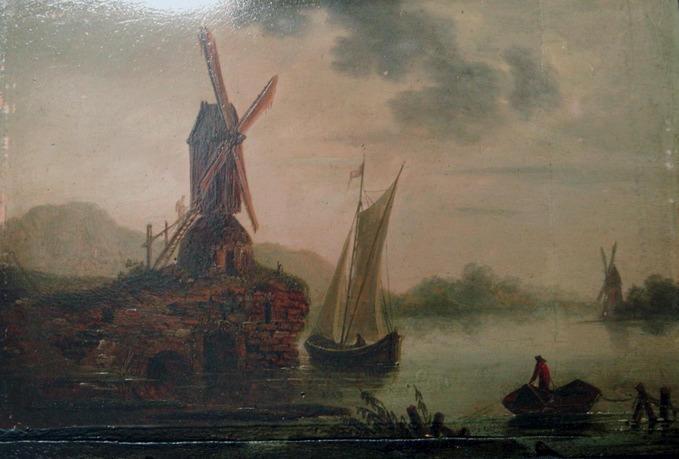 anonyme, RUISDAEL Jacob Salomonsz (d'après) : Paysage. Moulin à vent