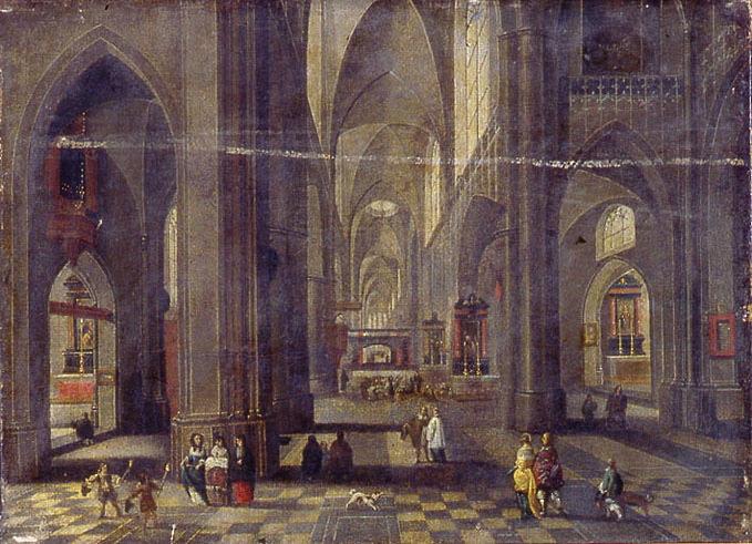 anonyme, NEEFS Pieter I, NEEFS le Vieux (dit) (d'après) : Intérieur d'église