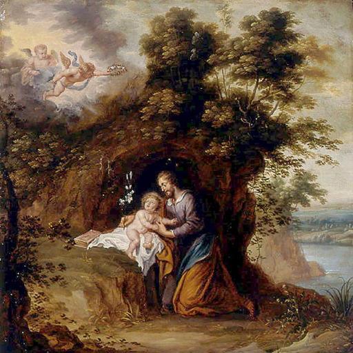 WOLFVOET Victor le Jeune : Saint Joseph et l'Enfant Jésus ou Dévotion à saint Joseph
