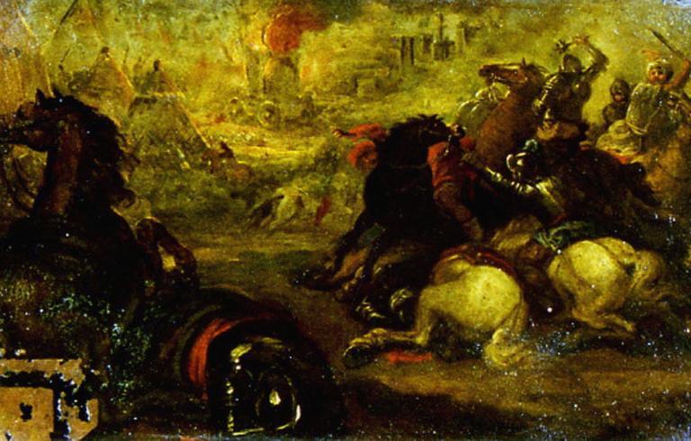 Combats de cavaliers turcs et hongrois
