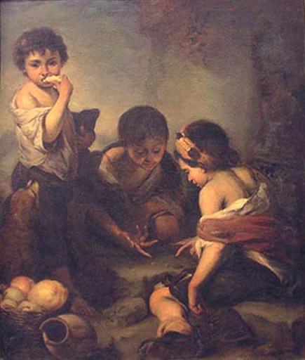 Trois enfants jouant aux dés_0