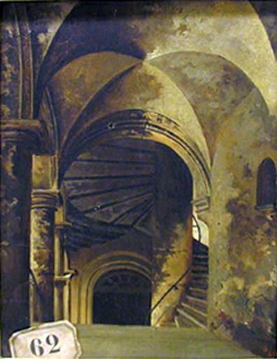 Escalier d'immeuble, rue Juiverie, XVe siècle, maison où a logé François 1er à Lyon_0
