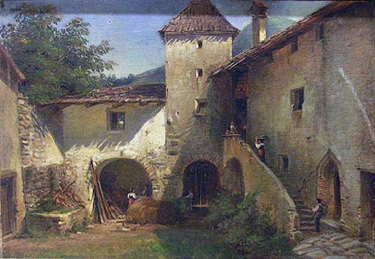 Paysage, château (cour de l'ancien château d'Angers au Tyrol)_0