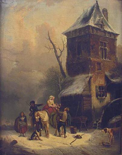 Le moulin, effet de neige, paysage_0