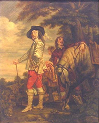 Portrait de Charles 1er (1600 ; 1649) (Paysage avec cavaliers)_0