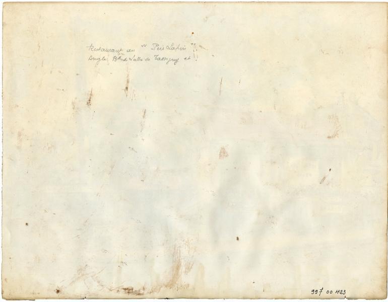 MERLE Jules (dessinateur) : Guinguette 'Au Père Lapin' (Titre fictif)