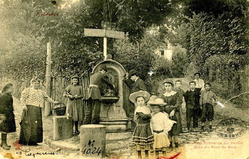 anonyme : La Fontaine du Tertre près du Pont de Bois