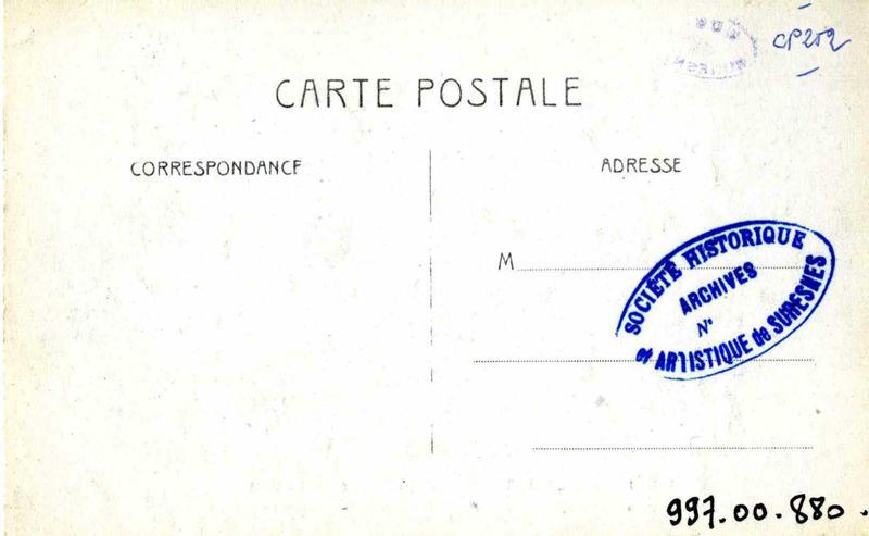 anonyme : Ile de Puteaux - Crue de  la Seine (Janvier 1910)  Pavillons de  Rothschild, (Ancienne propriété de Louis-Philippe et du Duc d'Orléans)