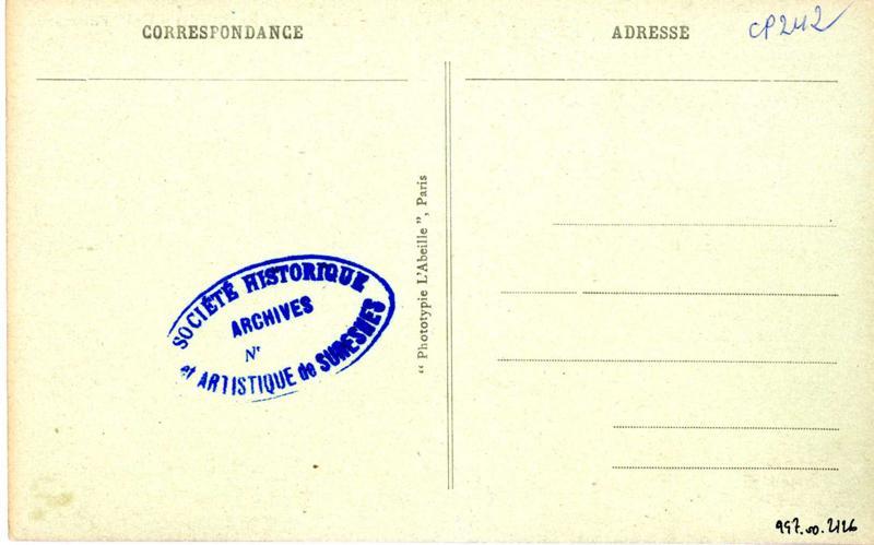 anonyme, L'ABEILLE (imprimeur, photographe) : La rue des Raguidelles. Coin pittoresque