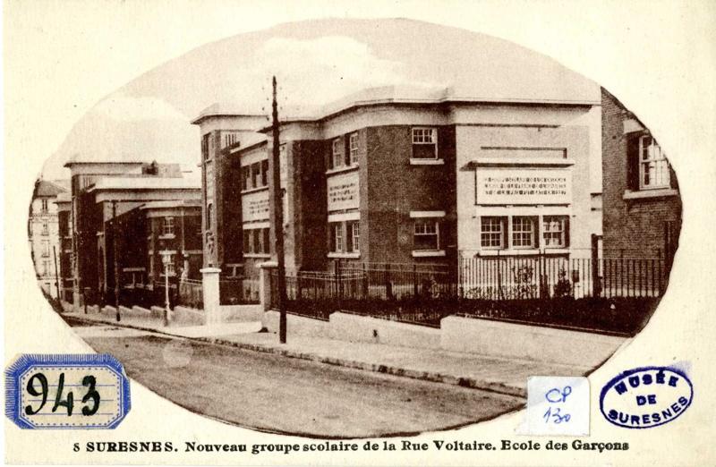 Suresnes. Nouveau groupe scolaire de la rue Voltaire. Ecole des garçons_0