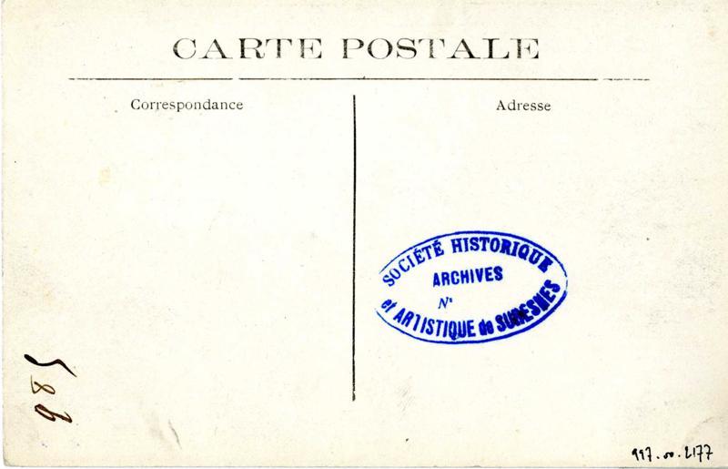 anonyme : Fort du Mont Valérien. Le corps de Garde et la route du Plateau