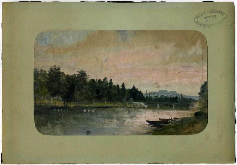 Le Mont Valérien vu de la Seine et pont de l'Avre_0