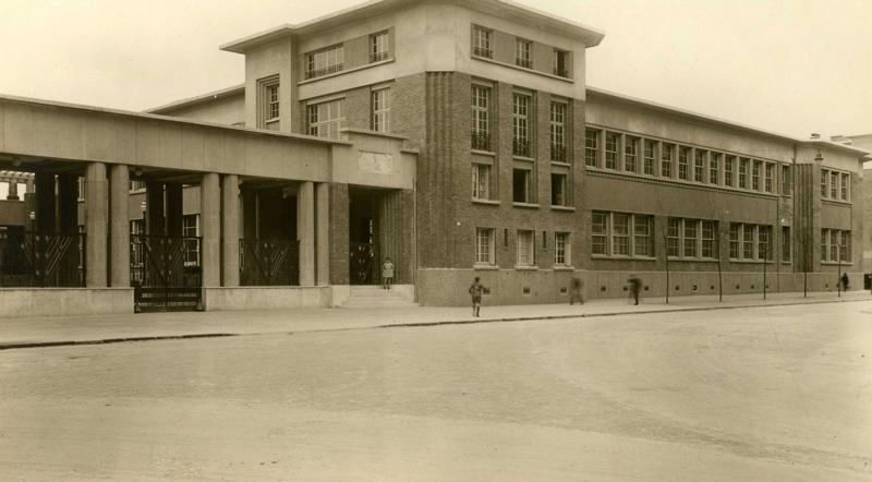 Ecole primaire Aristide Briand de la cité-jardins - Façade principale (Titre fictif)