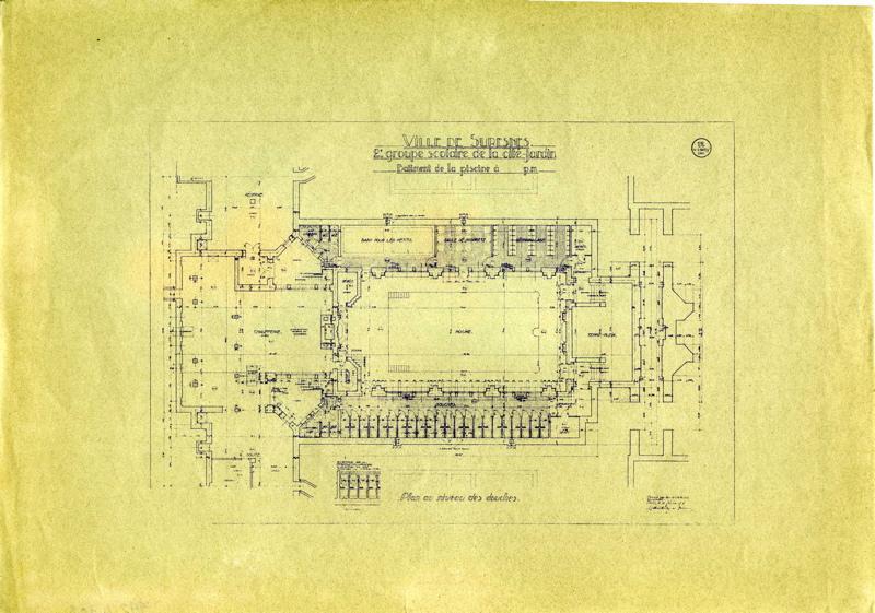 Ecole primaire Aristide Briand de la cité-jardins - Plan du bâtiment de la piscine (Titre fictif)_0