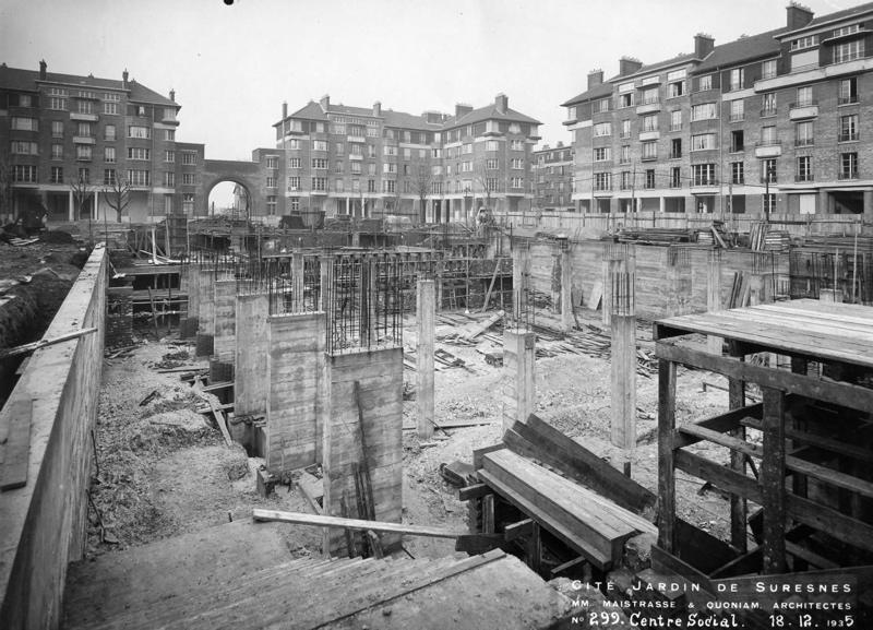 Centre social de la cité-jardins en construction (Titre fictif)_0