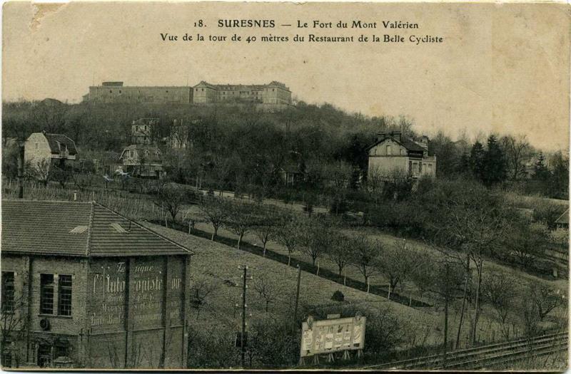 anonyme : SURESNES - Le Fort du Mont Valérien - Vue de la tour de 40 mètres du Restaurant de la Belle Cycliste
