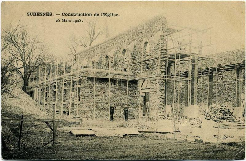 SURESNES - Construction de l'Eglise - 26 mars 1908