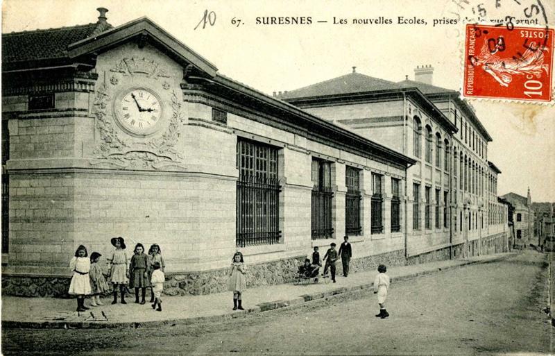 Suresnes - Les nouvelles Ecoles, prises de la rue Carnot (Collège Jean Macé)_0
