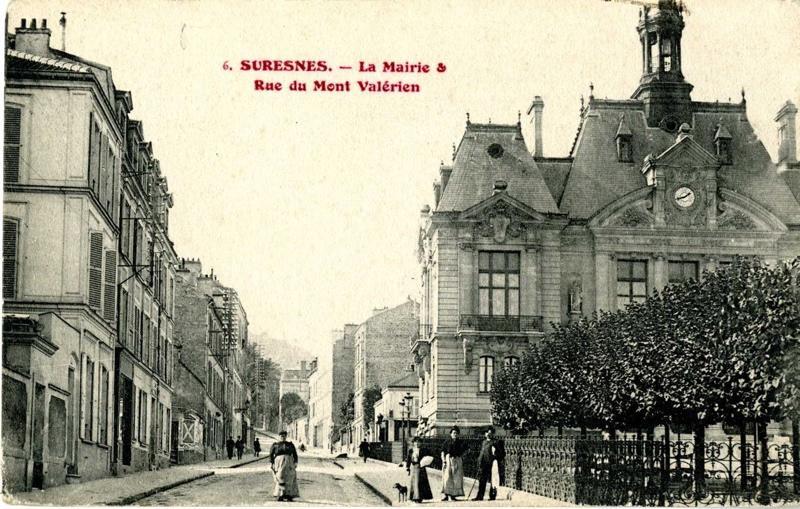 Suresnes - La Mairie & Rue du Mont Valérien (L'Hôtel de Ville)