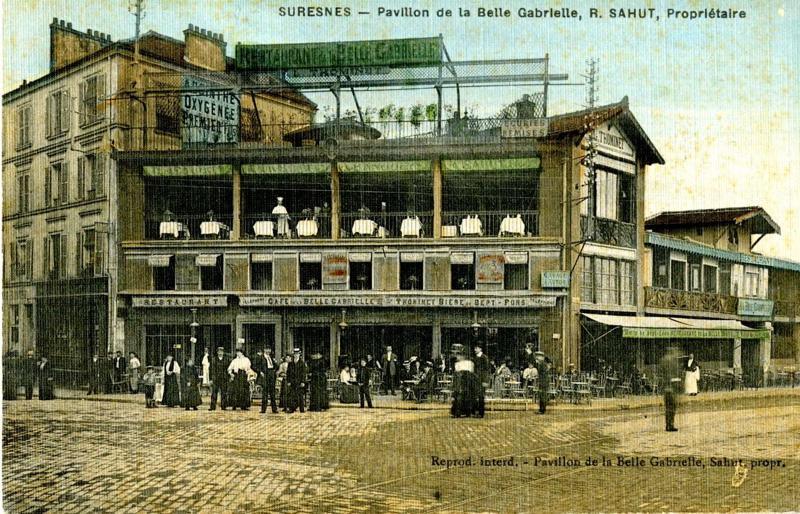 anonyme : Suresnes - Pavillon de la Belle Gabrielle, R. Sahut, Propriétaire
