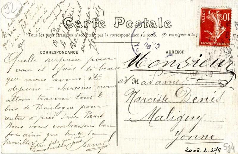 Suresnes - Maison Thominet : Café-Restaurant de la 'Belle Gabrielle'