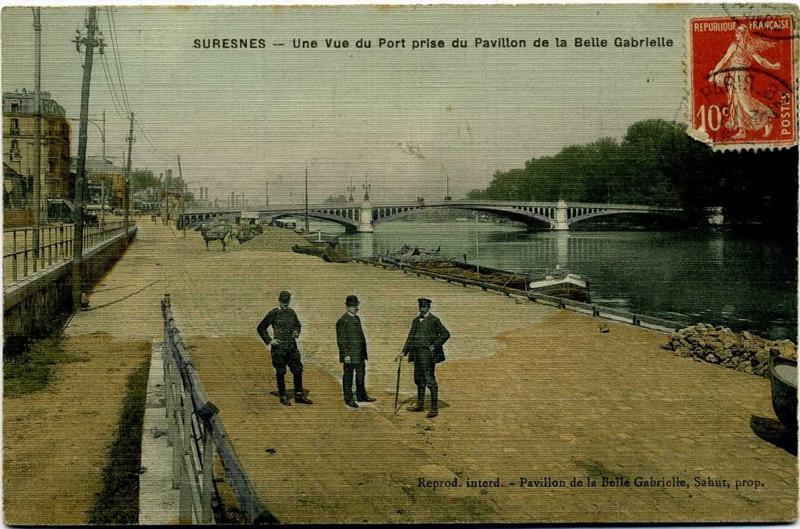anonyme : Suresnes - Une vue du Port prise du Pavillon de la Belle Gabrielle