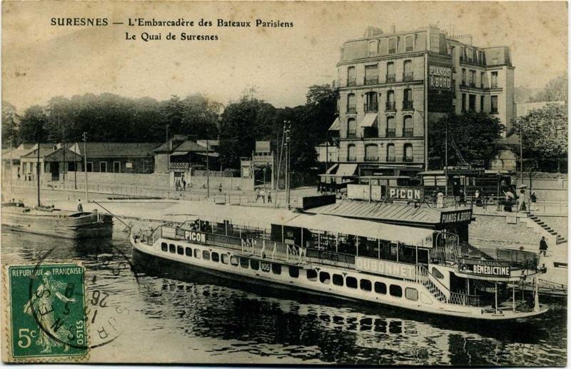 Suresnes - L'Embarcadère des Bateaux Parisiens - Le quai de Suresnes_0