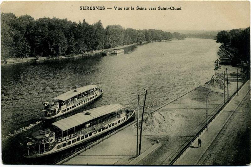 Suresnes - Vue sur la Seine vers Saint-Cloud