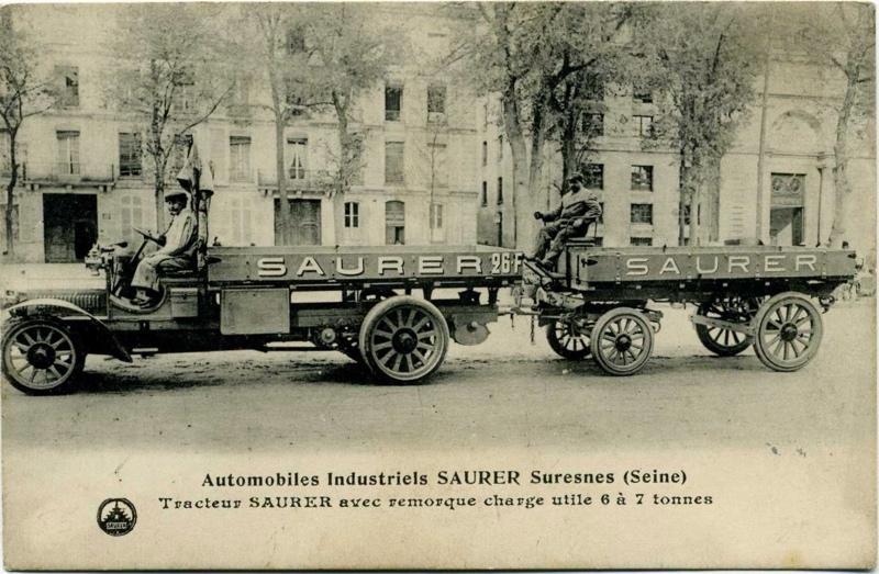 anonyme : Suresnes - Automobiles Industriels Saurer - Tracteur Saurer