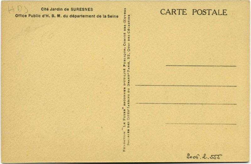 anonyme : Suresnes - Cité-jardins