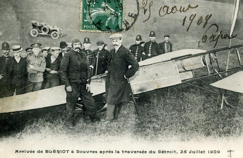 anonyme : Arrivée de Blériot à Douvres