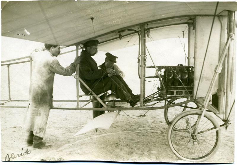 Blériot aux commandes de son monoplan