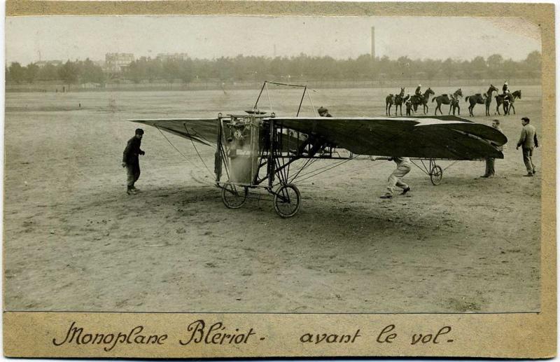 Monoplan Blériot avant le vol
