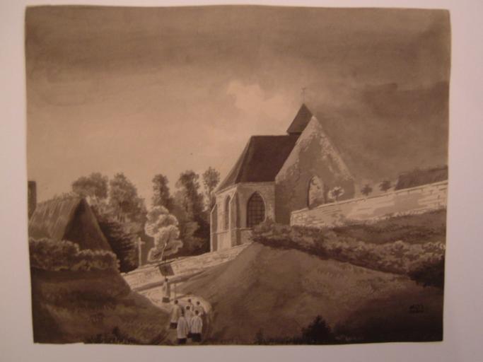 Chapelle avec procession_0