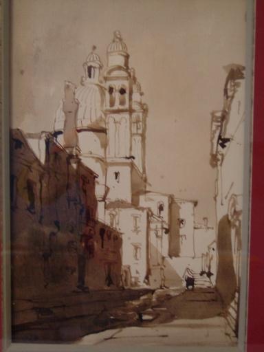 Eglise de la Salute vue du Petit Canal à Venise c. 1848