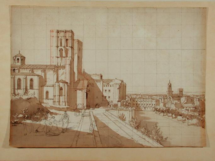L'ancien Palais des Papes ; Avignon (c. 1845)_0