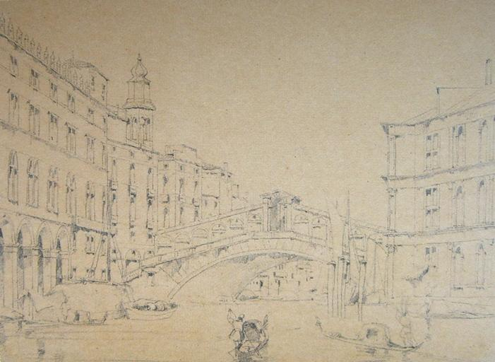 Venise, le Pont du Rialto vu d'amont_0