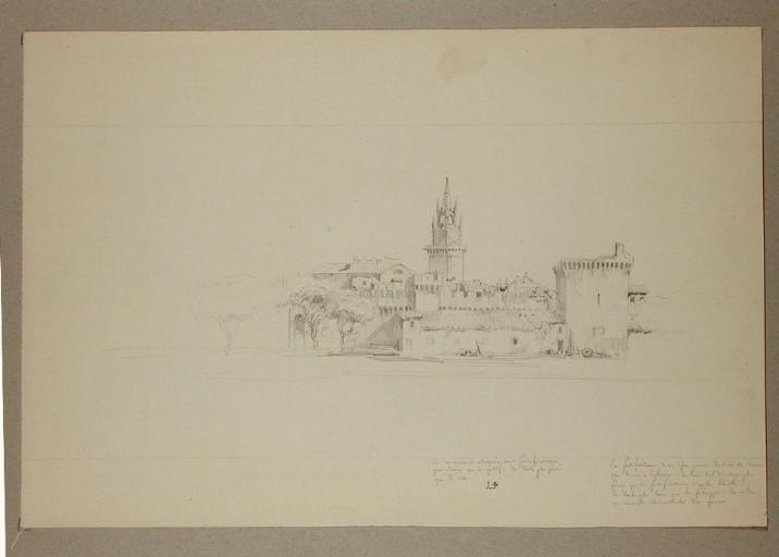 Avignon les fortifications, la tour de l'Horloge_0