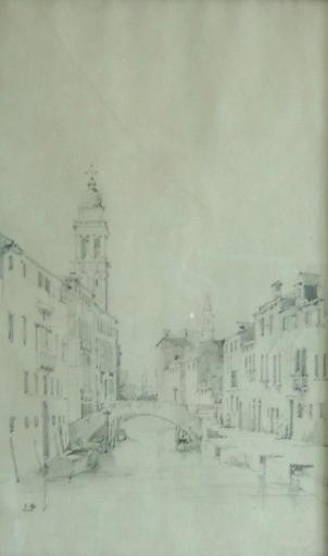 Venise, San Giorgio dei Greci et le pont San Lorenzo (c. 1844)_0