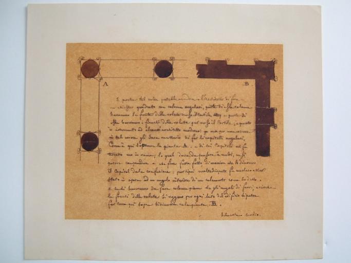 Plan avec texte architectural en italien de Sebastiano Serlio_0