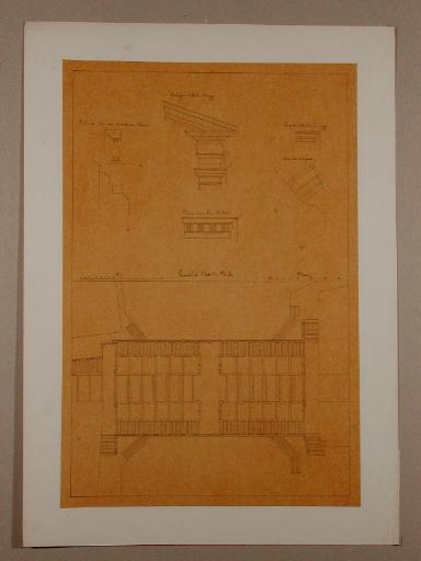 Plan et détails architecturaux du pont du Rialto, à Venise_0