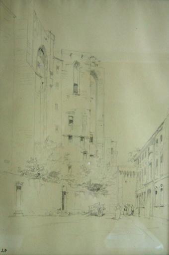 Avignon, palais des Papes (c. 1845)_0
