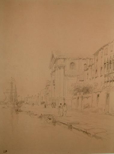 Venise, quai devant l'église des Jésuites_0