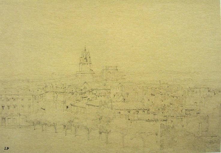 Avignon, vue sur la ville depuis le palais des Papes (c. 1845)_0