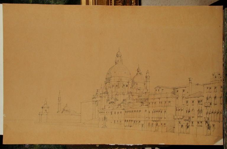 Venise, le Grand Canal, la Dogana et l'église Santa Maria della Salute