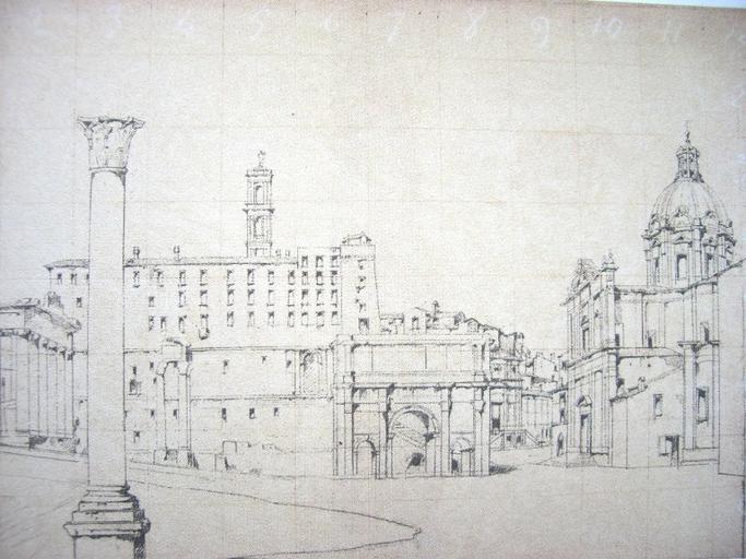 Rome ; le Campo Vaccino (c. 1843)_0
