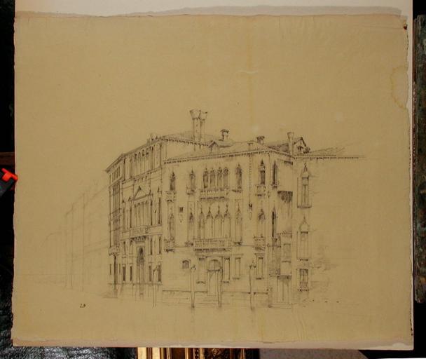 Venise, palais sur le Grand Canal_0