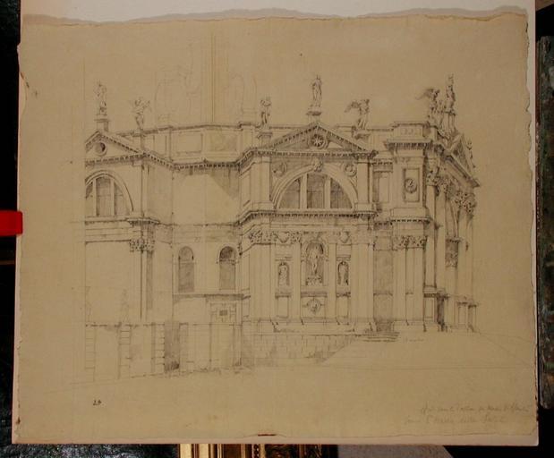 Venise, église Santa Maria della Salute (c. 1834)
