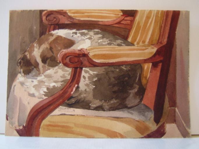 Chien dans un fauteuil (titre factice)_0