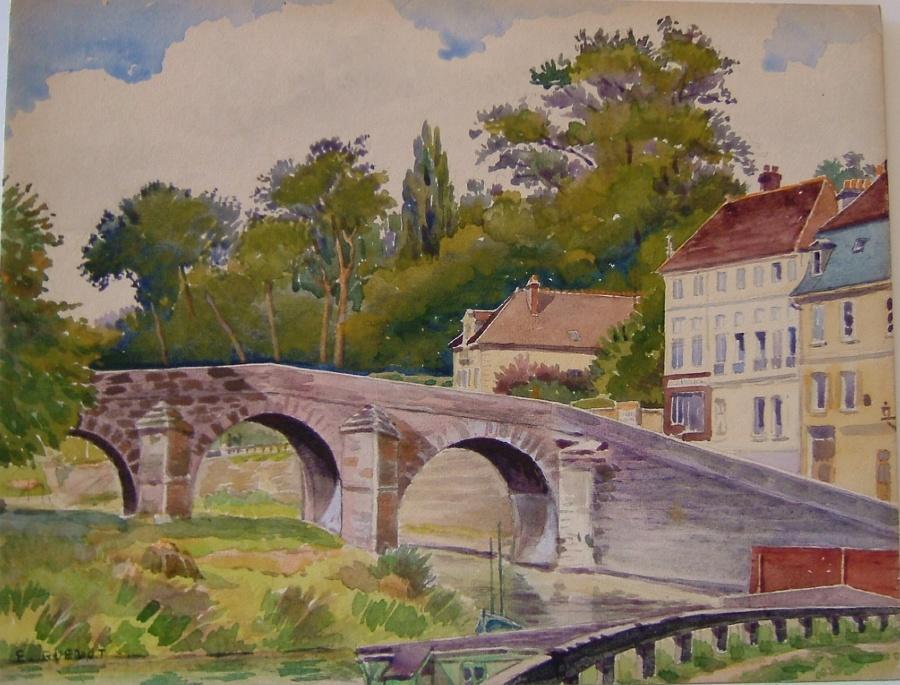 Le vieux pont à L'Isle Adam, 1922_0